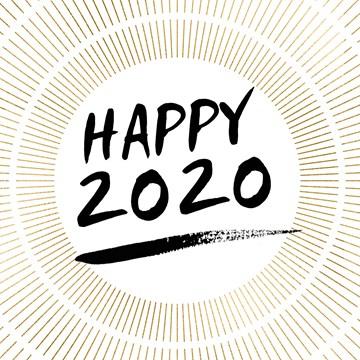 nieuwjaarskaart - nieuwjaarskaart-zakelijk-happy-2020