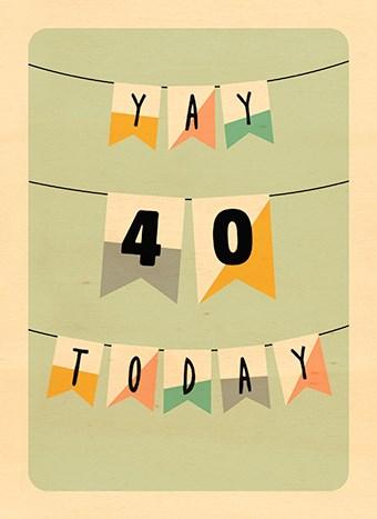 Hedendaags Kaarten Verjaardag leeftijden - 40 | Hallmark PQ-72