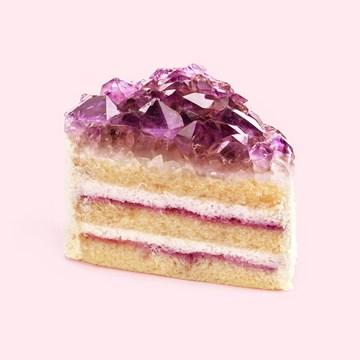 verjaardagskaart vrouw - taart-met-edelstenen