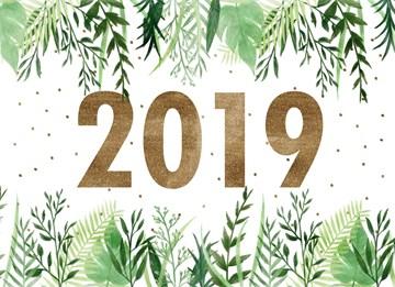 Nieuwjaarskaart - 2019-botanical