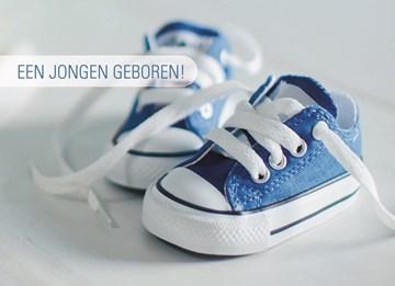Geboortekaartje - jongen-schoentjes-geboren