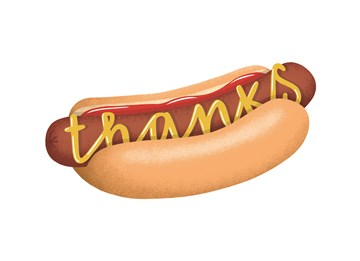 - thanks-hotdog