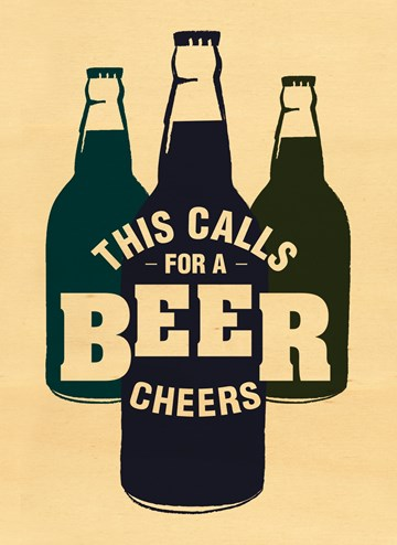 Felicitatiekaart - houten-kaart-this-calls-for-a-beer-cheers