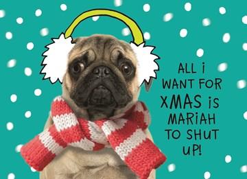 Kerstkaart - kerstkaart-all-i-want-for-xmas-is-mariah