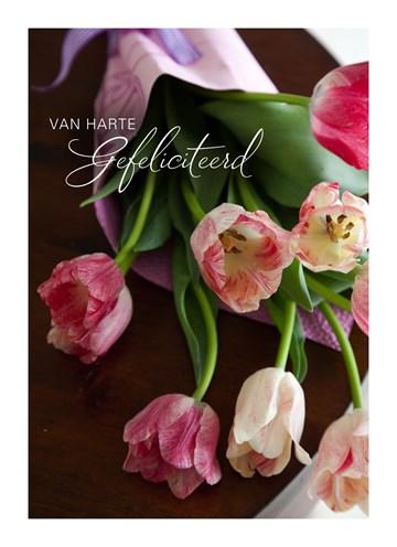 Zakelijke verjaardagskaart - Bos-tulpen-om-te-feliciteren
