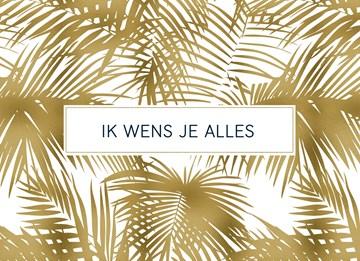 Kerstkaart - gouden-palmbladeren
