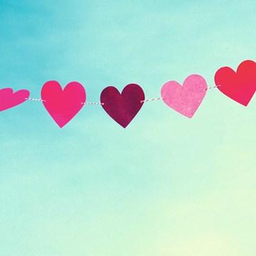 - slinger-roze-harten