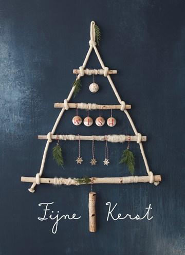 Kerstkaart - kerstkaart-fijne-kerst-boom