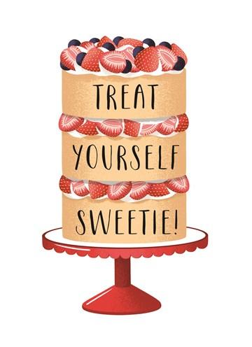 In verwachting kaart - treat-yourself-sweetie