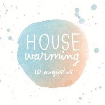 Uitnodiging maken - watercolor-housewarming