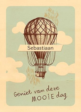 verjaardagskaart man - houten-kaart-luchtballon