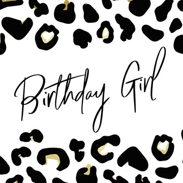Verjaardagskaart vrouw - birthday-girl-with-leopard-print