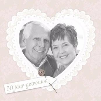 Huwelijkskaart met foto - foto-hart-