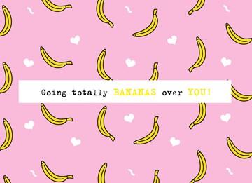 valentijnskaart - valentijn-bananas-over-you