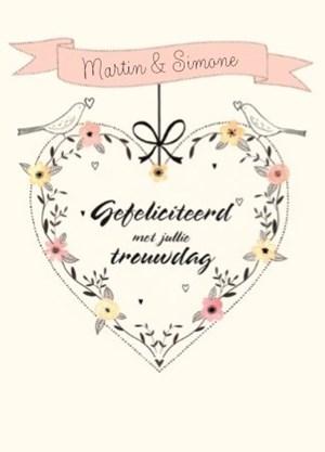 gefeliciteerd met jullie eerste trouwdag