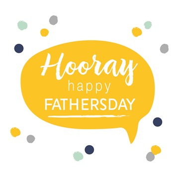 Vaderdag kaart - vaderdag-kaart-hooray-happy-fathersday