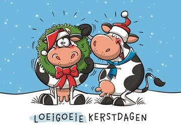 Kerstkaart - loeigoeie-kerstdagen!