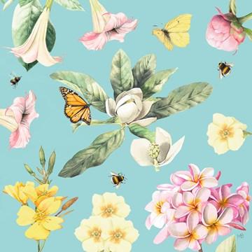 - Kaart-flowers-by-Marjolein-Bastin-Blanco-lichtblauw-bloemen-vlinders