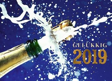 Nieuwjaarskaart - xmas-happy-new-year-gelukkig-2018-champagne-fles