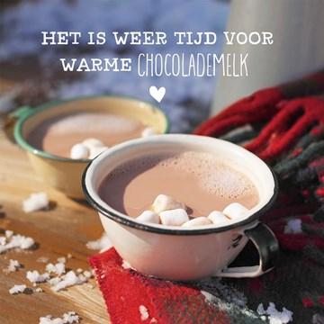 Winterkaart - tijd-voor-chocolademelk