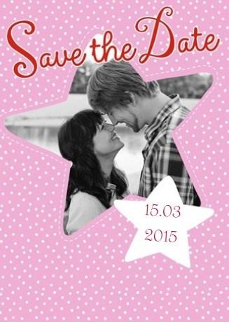 - fotokaart-save-the-date-roze-met-ster