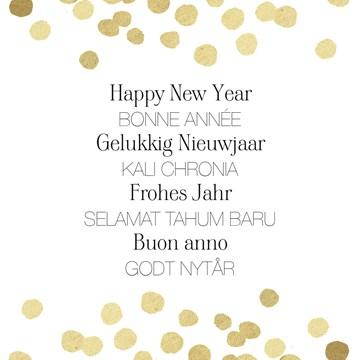 Nieuwjaarskaart - nieuwjaarswensen