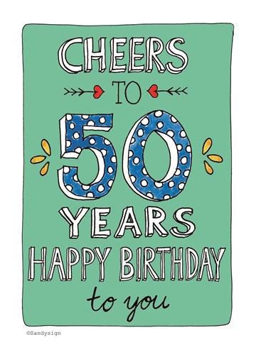 Goede Kaarten Verjaardag leeftijden - 50 | Hallmark HP-22