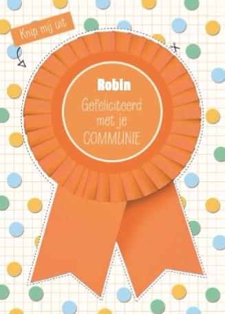 Communie kaart - knip-mij-uit-kaart-gefeliciteerd-met-je-communie