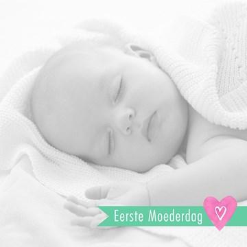 Moederdag fotokaart - fotokaart-vierkant-eerste-moederdag