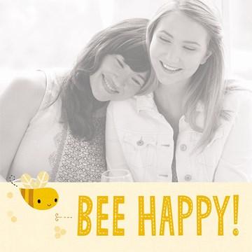 Lente kaart - fotokaart-bee-happy-met-een-schattige-bij-