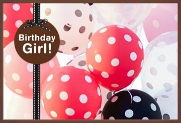 Verjaardagskaart meiden - ballonnen-birthday-girl