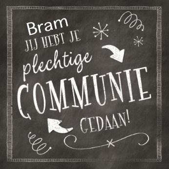 Communie kaart - jij-hebt-je-plechtige-communie-gedaan