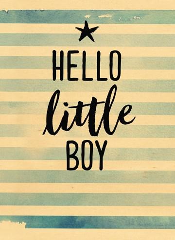 Geboortekaartje - houten-kaart-ster-hello-little-boy