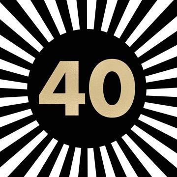 Wonderbaar Kaarten Verjaardag leeftijden - 40   Hallmark CV-27