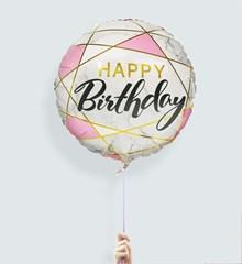 Ballon Marble Happy Birthday