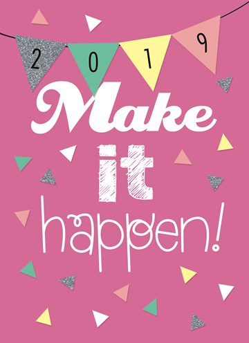 Nieuwjaarskaart - make-it-happen