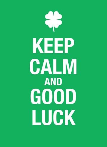 - Keep-calm-and-good-luck