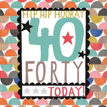 Hedendaags Kaarten Verjaardag leeftijden - 40 | Hallmark OR-93