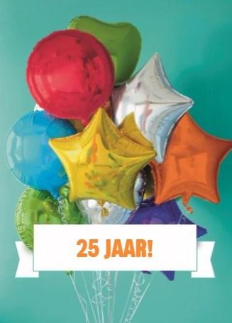 Fonkelnieuw Kaarten - verjaardag leeftijden - verjaardagskaart 25 jaar | Hallmark XP-55