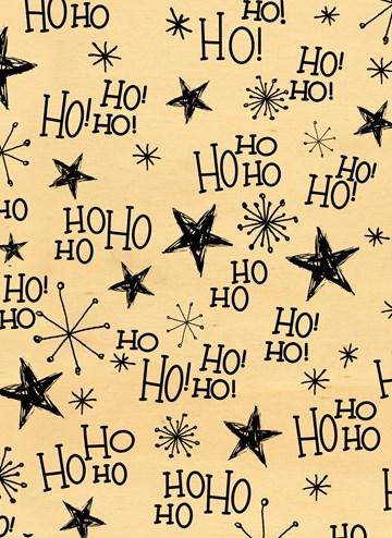 Kerstkaart - ho-ho-ho-met-sterren