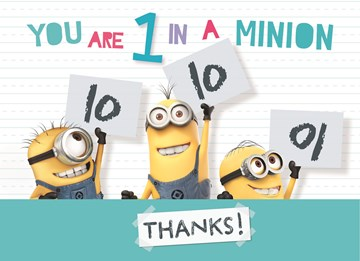 Bedankt kaart - minions-you-are-one-in-a-minion