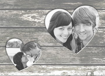 - fotokaart-hout-met-twee-hartjes