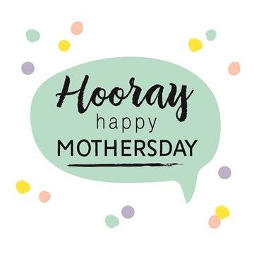 Moederdag kaart - hooray-happy-mothersday-tekst-met-confetti
