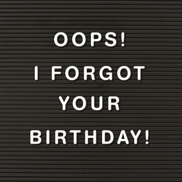 Te laatkaart - oops-i-forgot-your-birthday