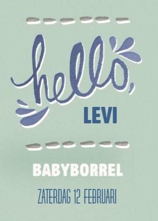 Uitnodiging maken - groene-babyborrel-kaart-hello