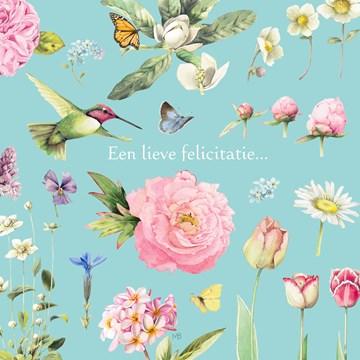- Kaart-flowers-by-Marjolein-Bastin-Een-lieve-felicitatie