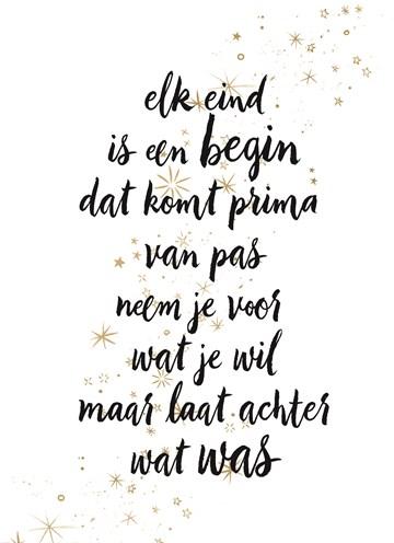 - kerstkaart-elk-eind-is-een-begin