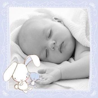 - foto-kaart-jongen-of-meisje-met-konijn