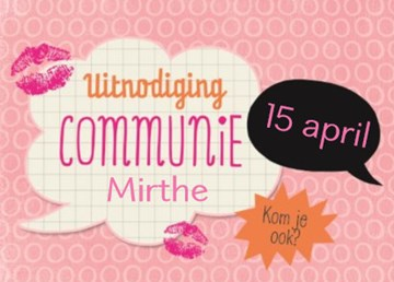 - uitnodiging-communie-roze-met-tekstwolken