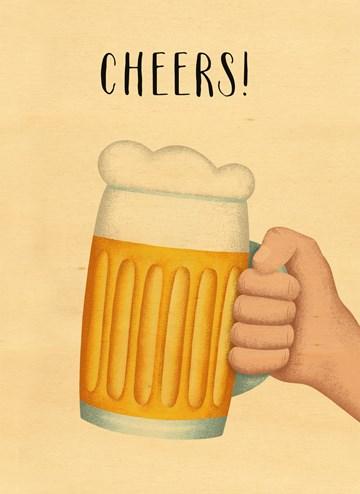 verjaardagskaart man - cheers-pul-bier